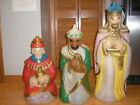 General Foam Christmas Nativity Blow Mold Set of Three Wise Men Light Up Blowmol