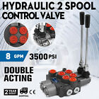 2 SPOOL 8 GPM MB21GB5C1 DOUBLE ACTING HYDRAULIC VALVE WITH 9 7862