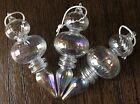 Hand Blown Glass Christmas Tree Ornaments Clear Iridescent