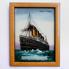 RMS Titanic c1912 Reverse Glass Painting EXTREMELY RARE white star line ss