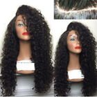 US Stock New Long Full Wavy  Wig Afro Kinky Curly Natural Hair Wigs Women Black