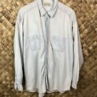 Vintage Guess Jeans XL Mens Chambray Shirt Button Down Long Sleeve Blue