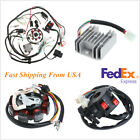 Motorcycle Electrics Stator Wire Loom Coil CDI Rectifier Solenoid Kit USA Stock