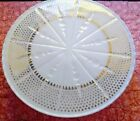 Vintage Anchor Hocking Milk Glass Plate/Pie Stand/Cutting Grooves and Gold Trim