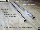 JEEP WRANGLER TJ Aluminum Diamond Plate Door Entry Guard Sills 23 inch long Set