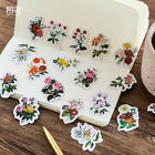 46 PCs Set Girl DIY Vintage Romantic Diary Decal Flakes Flower Stickers Label