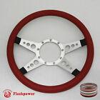 14 Billet Steering Wheels Red Half Wrap Charger Mustang Comet Bronco Barracuda