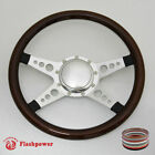 14 Billet Steering Wheel Walnut Half Wrap horn button Bronco Cougar Cutlass GTX