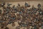 One Antique Lot 20 French Rusty Brass Finish Upholstery Nails Tacks Nailheads