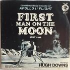 FIRST MAN ON THE MOON 45 Record w Picture Sleeve APOLLO 11 Hugh Downs 1969