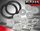 Universal Moto Car Fairing Quick Release Fasteners Washers + Tension Band Silver