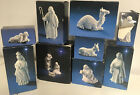 11 Pc Vintage Avon Nativity Scene Collectibles Bisque Porcelain White 1980s WOW
