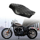 Black Front+Rear Seat Cushion Pillion For Harley Sportster 1200 883 Forty Eight