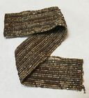 ANTIQUE FRENCH CUT STEEL BEADS TINY MICRO METAL SEED PURSE REPAIR RUSTIC HARVEST