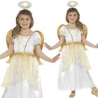 Girls Gold Angel Princess Costume  Christmas Fancy Dress Nativity S