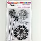 Stampendous Agapanthus Thanks Clear Stamp Set Flower Thank You