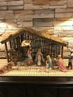 GOEBEL HUMMEL 12PC NATIVITY SET 214 1951 Germany with Huge Stable