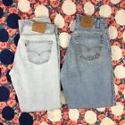 Lot of 2 DESTROYED VTG Levis Jeans 501 Button Fly 560 Loose Fit Tapered Leg 34