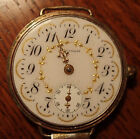 Vintage Waltham Trench Watch 1908 - Parts or Repair - Fancy Gold Dial Face
