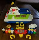 VINTAGE FISHER PRICE LITTLE PEOPLE LOT HOUSEBOAT CLEAN COMPLETE XTRAS