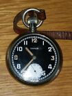 RARE VINTAGE WWII DAMAS MILITARY POCKET WATCH GS/TP 171396 GWO