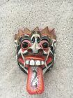 Vintage Hand Painted Wooden Japanese Devil Wall Hanging Carving