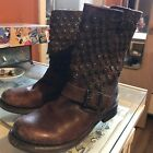 Frye Jenna Disc 65 Distressed Leather Boots 348