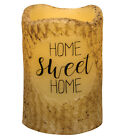 NEW!!! Primitive Country HOME SWEET HOME Pillar Timer Candle W/Hint Of Cinnamon
