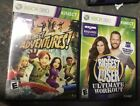 Lot of 2 Games XBOX 360 Kinect Kinect Adventures Biggest Loser Ultimate Work
