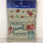 Spring Tapestry Table Runner Home Sweet Home Country Floral Farmhouse Windham