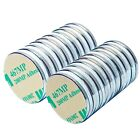10 Pack Neodymium Magnets Large 1 Inch Strong Rare Earth With Adhesive Backing
