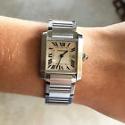 Cartier Tank Francaise Watch, Model W51011Q3 Stainless, Mid-Size w/Date