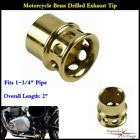 Motorcycle Drilled Exhaust Tips For Harley Chopepr Bobber w 1 3 4 Diameter Pipe