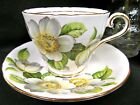AYNSLEY TEA CUP AND SAUCER DOGWOOD PATTERN TEACUP FULL SIZE