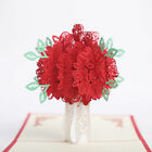 3D Pop Up Greeting Card Rose Flower Valentine Birthday Anniversary Gift Handmade