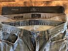 3 Lucky Brand 363 Vintage Straight Mens Jeans Size 31 30 Blue Gray