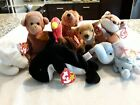 TY Beanie Babies Peanut,Whispers,Mystic,Gobbles,Sly,Waves,sequoia( Make Offer)