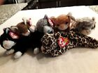 Ty Beanie babies Pounce,Purr,Booties,Freckles,Amber,Silver. ERRORS,  MAKE OFFER