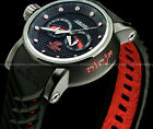 Invicta Mens 48mm Japanese S1 Rally Ninja Red n Black Textured Dial Strap Watch