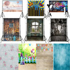 5x7FT 10x10FT Wooden Wall Photo Backdrops Vinyl Family Studio Background Prop US