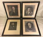 Antique Lithographs of Presidents WM Harrison Herb Hoover Woodr Wilson
