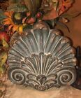 French Tuscan Acanthus Wall Plaque Pediment Picture Door Topper Rich Regal New