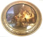 The Promise of Christmas by Robert Stanley Lighted Nativity Charger W Stand RARE