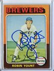 (1) Robin Yount 1975 Topps rc rookie auto autographed Buy HoF