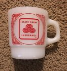 Vintage~State Farm Insurance~coffee Mug~Anchor Hocking~FireKing