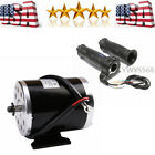 24V 500W Electric Motor + Throttle Grips for Razor ATV Go Kart Scooter Moped US