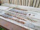 10 sections Old Rusty Chain Metal art Salvaged Iron Barn Find #10