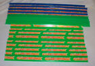 Lot of 16 Hot Wheels green Blue Neon Decals Straight Track Pieces USED RED LINE