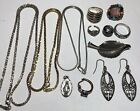 Sterling Silver JEWELRY LOT Scrap Pieces 65 Grams EARRINGS RINGS NECKLACES