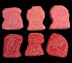 B Rubber Stamps Lot 6 Vintage Foam  Rubber Stamps Valentines Day Love Hearts
